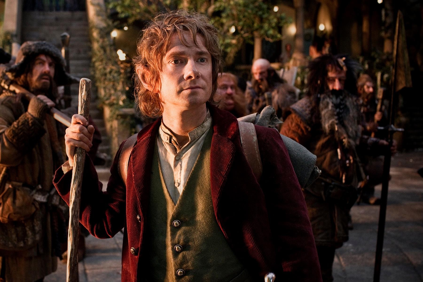 Bilbo Baggins (Martin Freeman) leads the way in another adventure in  Middle-Earth, as he travels with beloved wizard Gandalf the Grey and a  company of 13 ...
